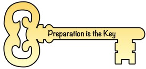 Key with Preparation Written on it