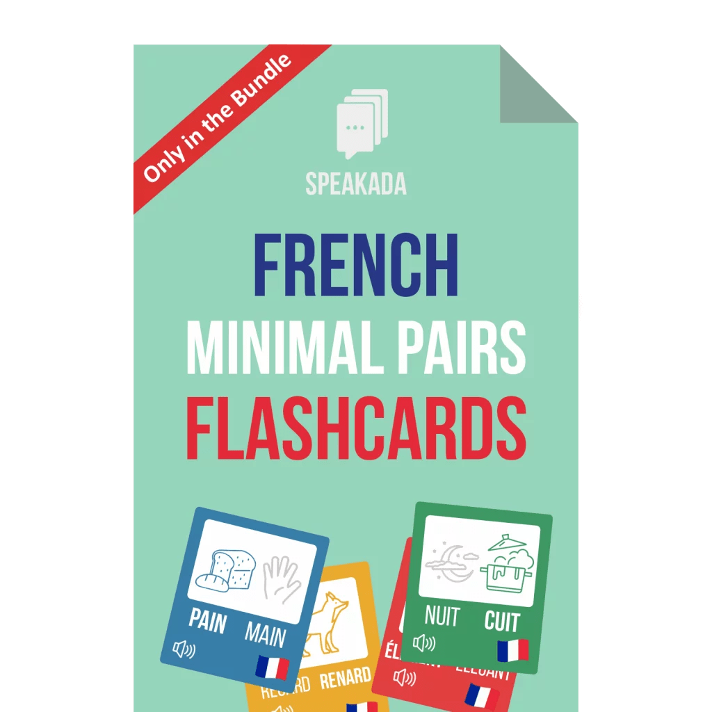 French Minimal Pairs Examples Anki Flashcards