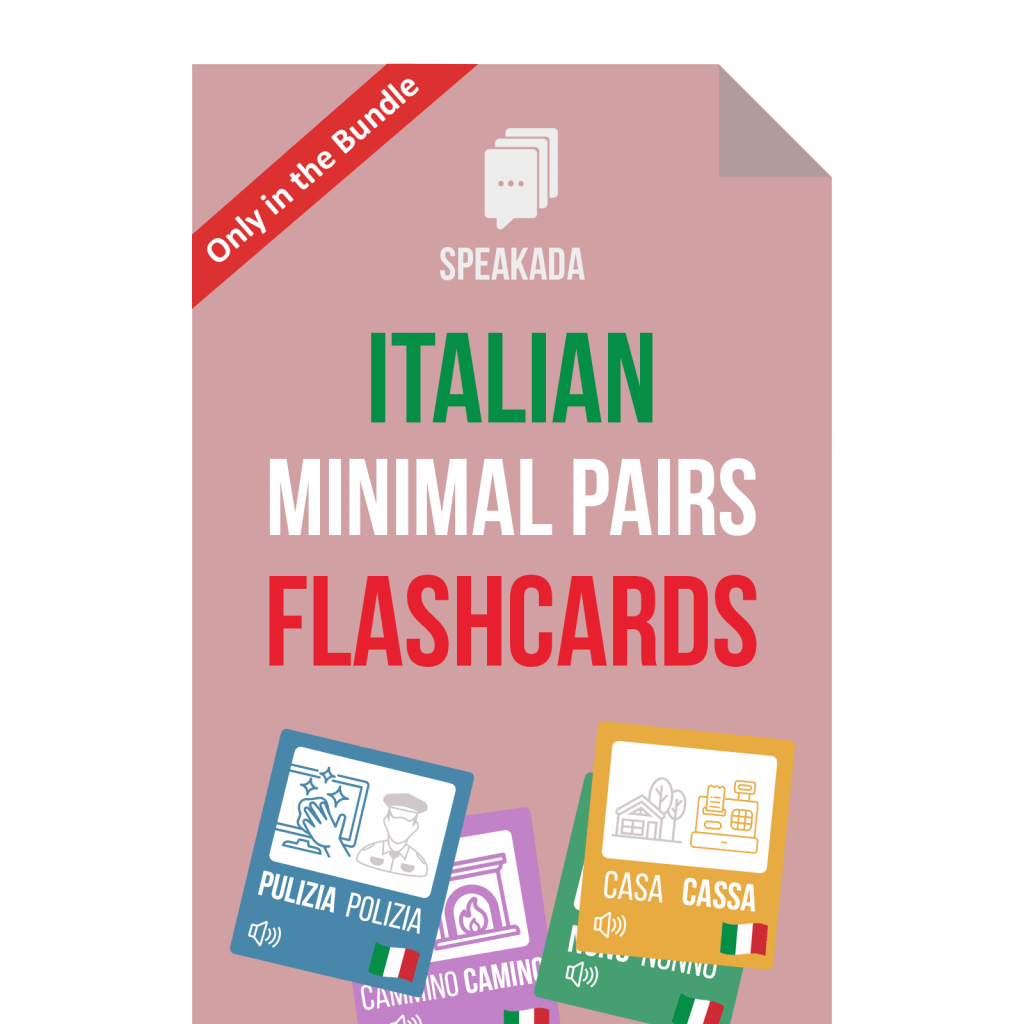 Italian Minimal Pairs Examples Anki Flashcards