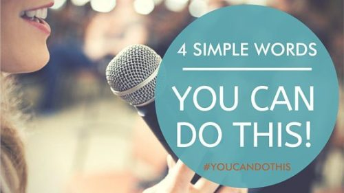 4 simple words - you can do this
