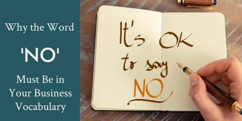 Why You Must Say No in Business