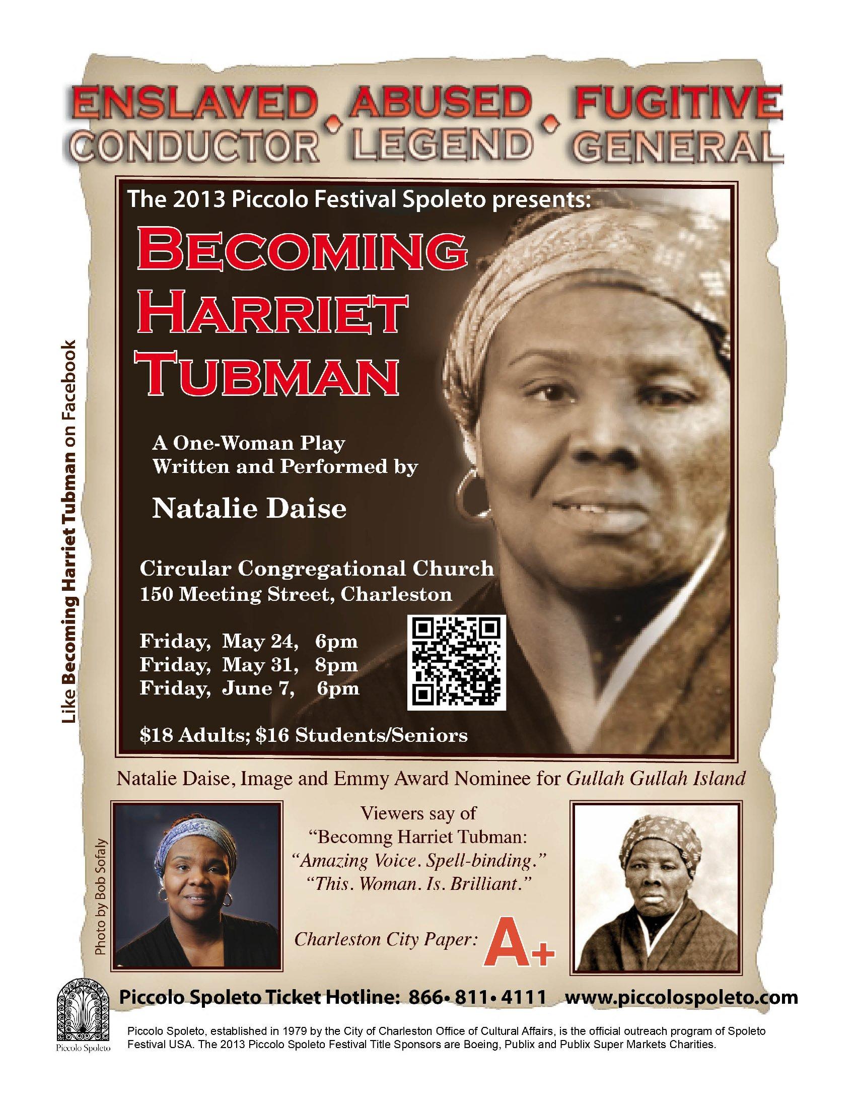 Natalie Daise Becoming Harriet Tubman