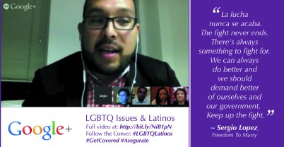 Sergio Lopez on LGBTQ Latinos
