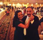 Dancing up a storm with Willie Colón. September 2013.
