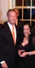 With Governor Martin O'Malley during the 2014 Hispanic Heritage celebration, where I was presented with the Social Media Innovation Award.