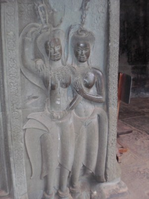 Angkor Wat--two Apsarases