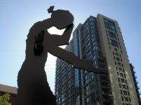 Seattle, outside the Seattle Art Museum.. Sept, 2012,
