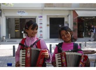children in Athens, Greece