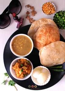 alur dom luchi bengali breakfast recipe vegetarian recipe