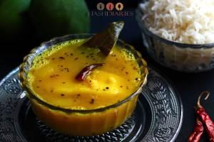 কাঁচা আম ডাল  Bengali Tokk Dal Kacha Aam Dal Recipe
