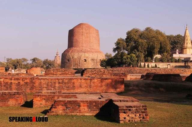 Dhamekh Stupa Sarnath Monastery Ruins Site