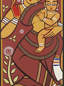 Jamini Roy Mother Child Sasthi Jamai Sashthi