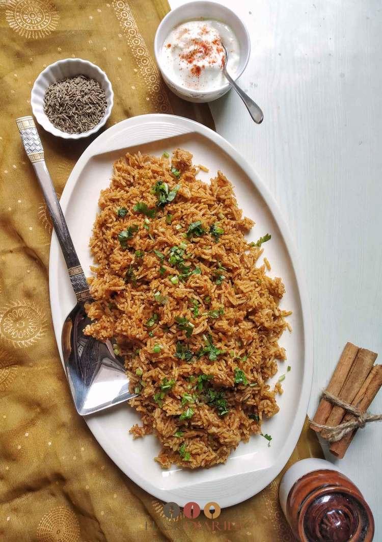 Tomato Rice Pulao Recipe