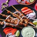 indian chicken skewers kebab recipe