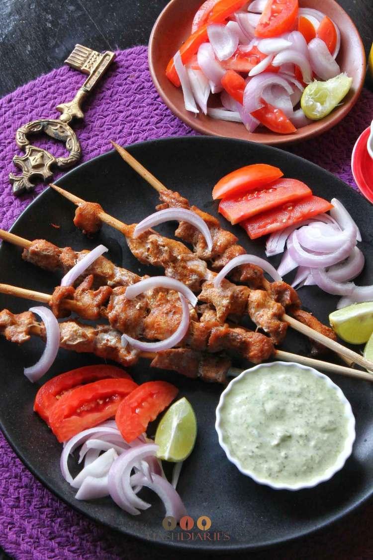 indian chicken skewers kebab recipe