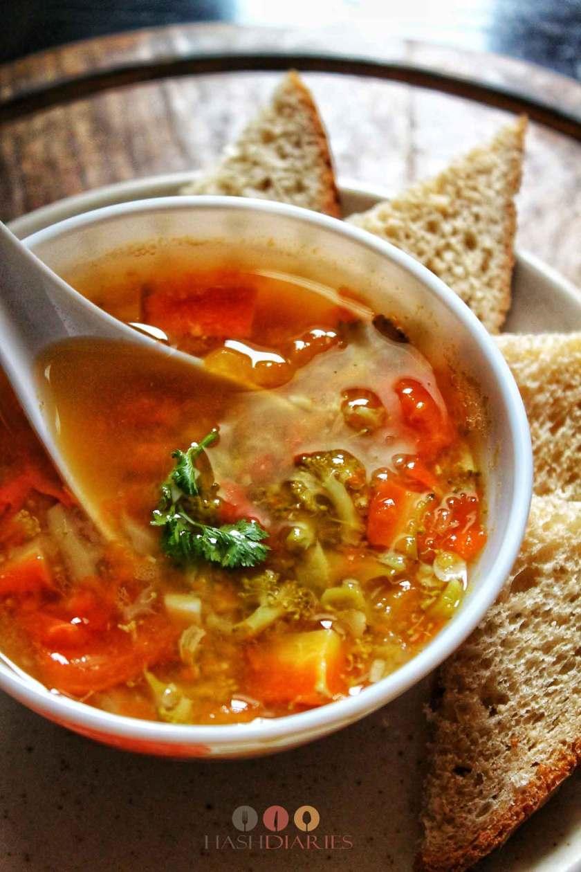 Mix vegetable soup recipe
