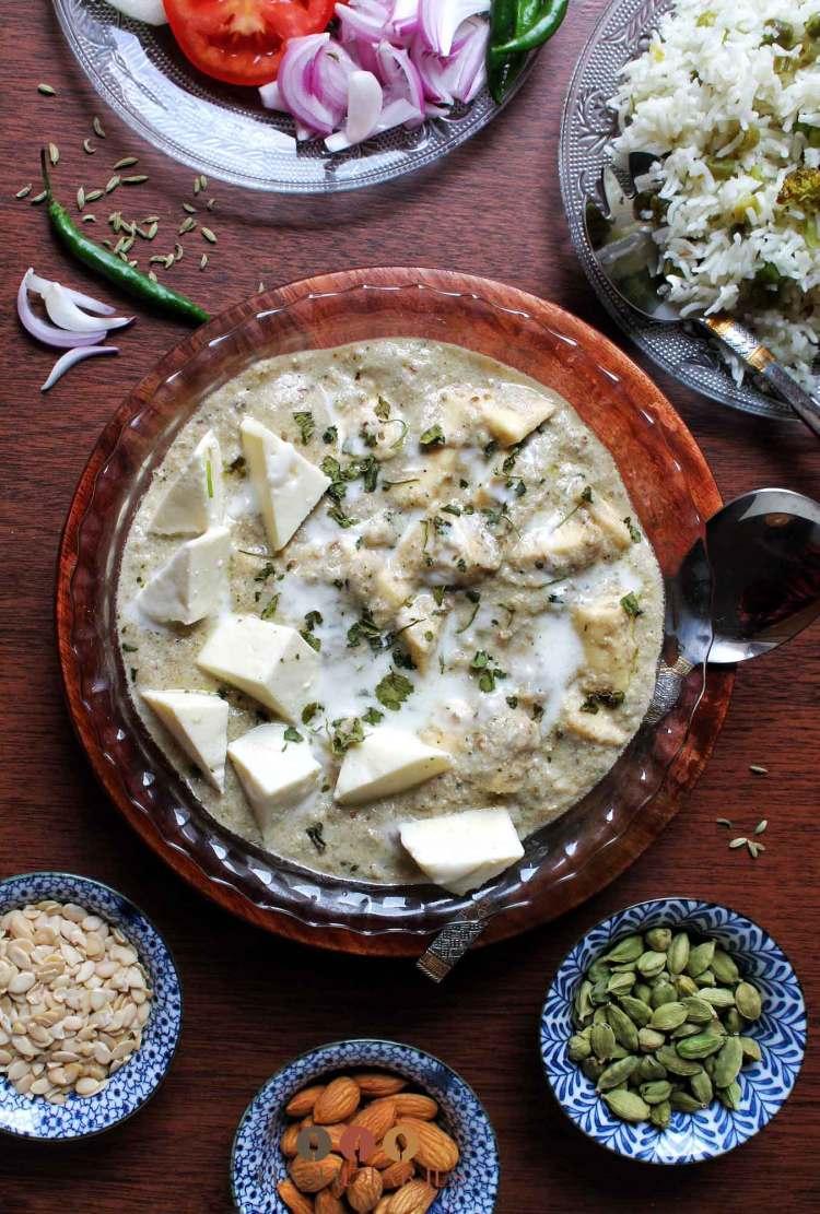 Badami Paneer Curry Recipes