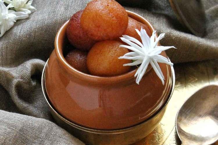 Rasbhari sweet recipe   mini gulab jamun recipe video