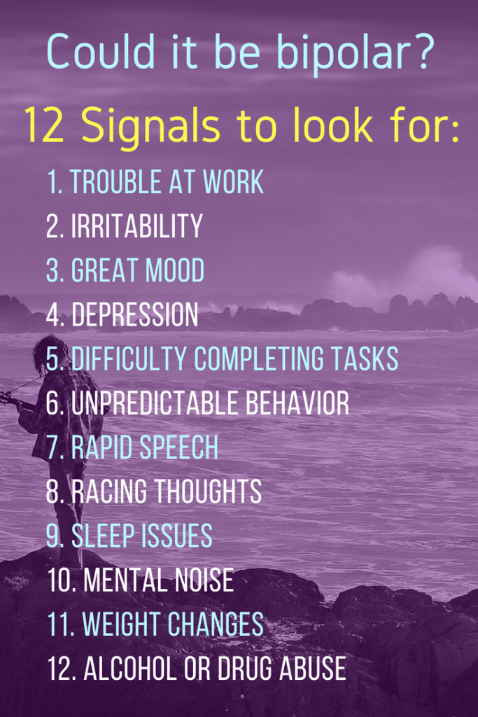 Bipolar Disorder can be very disruptive, but it is also very treatable. This post looks at 12 common signs of bipolar. | #Bipolar #MentalHealth #MentalHealthAwareness #BPD