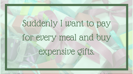 Quote: I want to buy every meal and expensive gifts. From Post: 12 Signals That Point to Bipolar Disorder