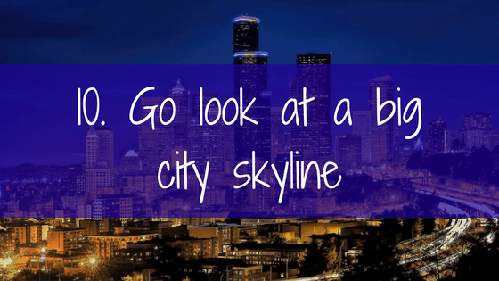 Go look at a big city skyline.