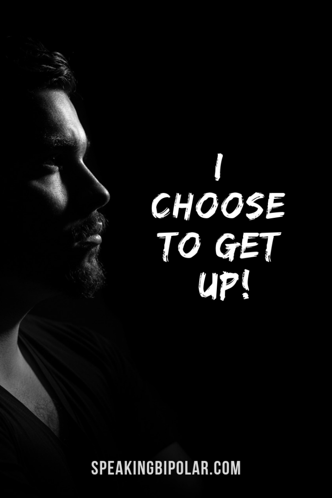 Man looking ahead. I Choose to Get Up! It's inevitable that life will knock you down. Staying down is a choice. Read this blogger's determination to make this year the best it can be.