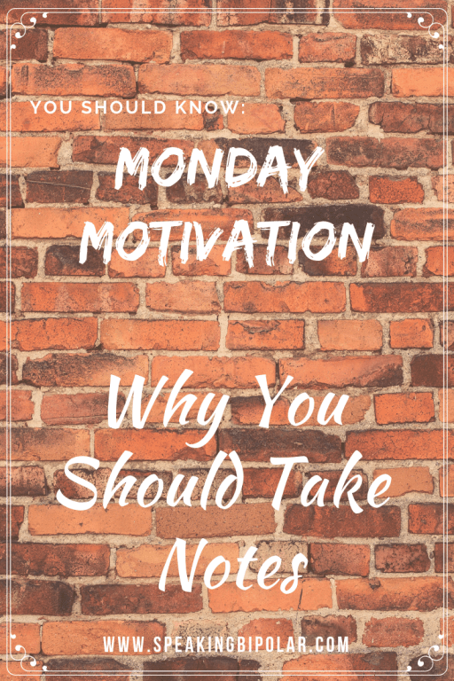 Looking for some Monday Motivation? This post looks at why you should take notes on your life. | #MondayMotivation #Journaling