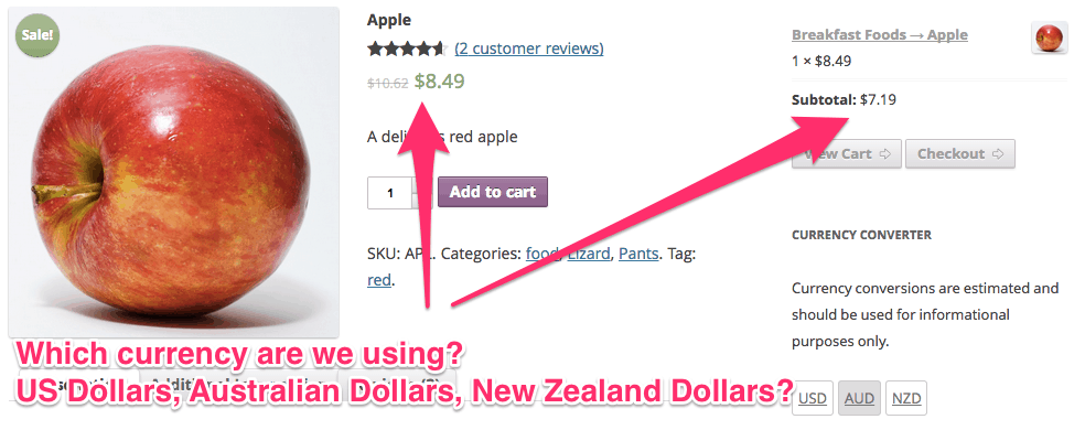 Display The Currency Code Before The Symbol In Woocommerce