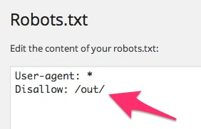 Robots.txt Disallow Out