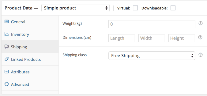 Assign Shipping Class to Product