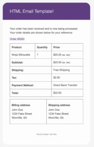 Customized Styles WooCommerce Email