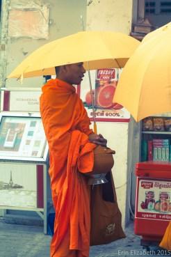Monk blessing, Phnom Penh