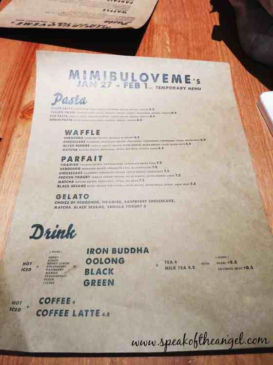 mimibuloveme menu