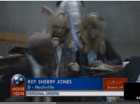 State Rep. Sherry Jones on the floor of the House