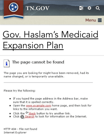 Haslam Medicaid Plan
