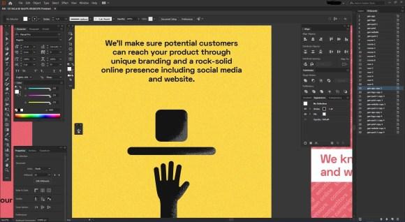 Graphic design in Adobe Illustrator