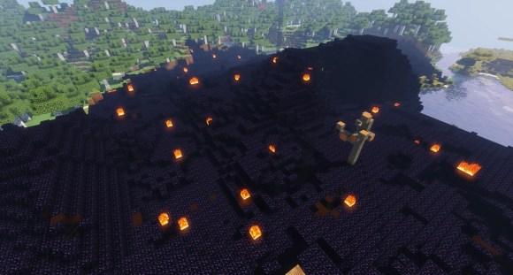 obsidian biome in minecraft