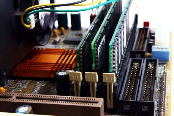 motherboard with ram sticks