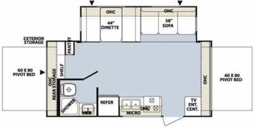 Find Specs for 2012 Forest River - Rockwood Roo <br>Floorplan: 21SS (Expandable Trailer)