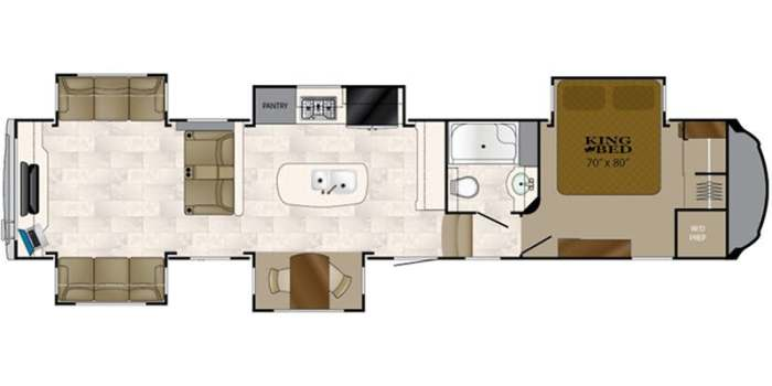 Find Specs for 2018 Heartland  - Bighorn <br>Floorplan: BH 3970 RD (Fifth Wheel)