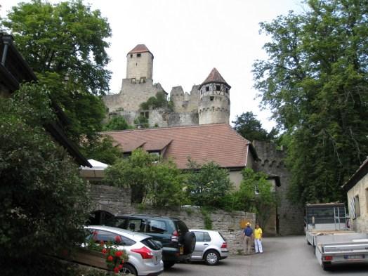 Vandring upp till Burg Hornberg i Hassmersheim