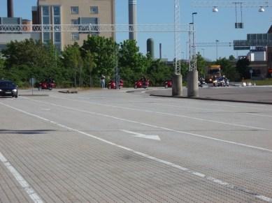 Efter årsmötet körde vi till hamnen i Helsingborg.