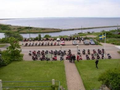 Nu är det lunch, utsikt från Restaurang Skälderviken.