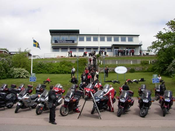 Utsikt upp mot Restaurang Skäldervikens.