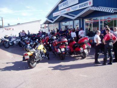 Vid Bike Corner i Karlstad samlades vi