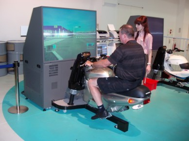 MC-simulatorn var inte lätt att hantera.