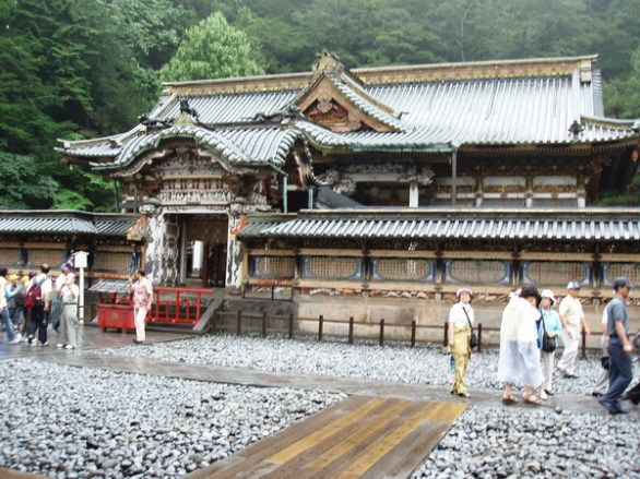 Den Tredje Shogun Imetsu byggde sig senare den här bostaden.