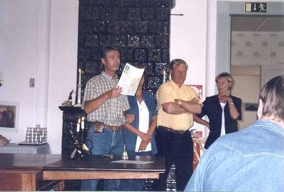 Rolf Mälberg som organiserade träffen hälsar alla välkomna