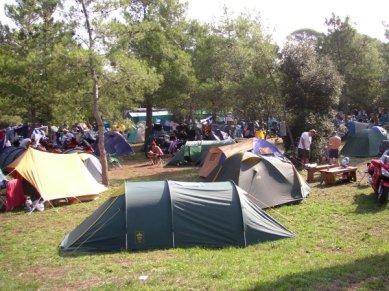 Utsikt över en del av campingen