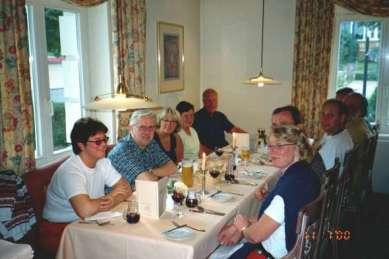 Middagarna på Treff Hotel Quellenhof var både trevliga och goda.